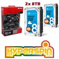 16TB Hyperspin Hard Drive INTERNAL (8TBx2) with Microsoft Xbox 360 Wireless Controller & Receiver